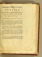 Adresse de M. de Cambefort, colonel du régiment du Cap, à messieurs les colons de Saint-Domingue.