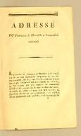 Adresse du commerce de Marseille à l'Assemblée nationale