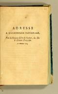 Adresse à l'Assemblée nationale, : pour les citoyens libres de couleur, des isles & colonies françoises, 18 octobre 1789