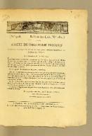 Arrêté du Directoire exécutif, concernant l'exécution des lois sur la conscription militaire relativement aux habitans des colonies. Du 3 prairial an VII (22 mai 1799)