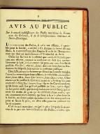 Avis au public : sur le nouvel établissemens des postes maritimes de France avec les colonies, & de la correspondance intérieure de Saint-Domingue