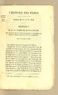 Chambre des Pairs. Séance du 21 avril 1826. Opinion de M. le comte de Pontécoulant, sur le projet de loi relatif à la reparation de l'indemnité stipulée en faveur des colons de Saint-Domingue
