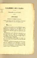 Chambre des Pairs. Séance du 19 avril 1926. Opinion de M. le Baron Portal, sur le projet de loi relatif à la réparation de l'indemnité stipulée en faveur des colons de Saint-Domingue