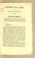 Chambre des Pairs. Séance du 25 avril 1826. Développements d'un amendement proposé par M. le comte de Saint-Priest, à l'article 9 du projet de loi relatif a la répartition de l'indemnité stipulée en faveur des colons de Saint-Domingue