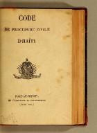 Code de procedure civile d'Haïti