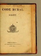 Code rural d'Haïti