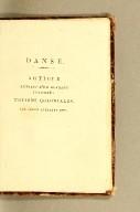 De la danse. Par Moreau de Saint-Méry, conseiller d'état, membre des pleusieurs sociétés savantes et littéraires.