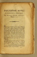 Deuxième appel a l'opinion publique, par Martial Besse, général de brigade.