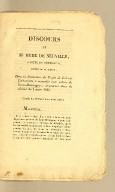 Discours de M. Hyde de Neuville, (compte de Bemposta). député de la Nièvre, dans la discussion de projet de loi sur l'indemnité à accorder aux colons de Saint-Domingue; improvisé dans la séance du 8 mars 1826