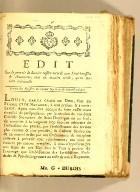 Edit sur le pouvoir de dernier ressort accordé aux sénéchaussées & amirautés, : tant en matière civile, qu'en matière criminille[.] Extrait des registres du Conseil supérieur de Saint-Domingue
