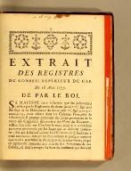Extrait des registres du Conseil supérieur du Cap. Du 16 août 1775