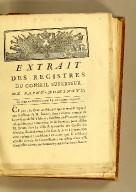 Extrait des registres de Conseil supérieur de Saint-Domingue. : Du vingt-neuf décembre mil sept cent quatre-vingt-neuf