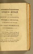 Grand débat entre Duffay et consorts, Polverel et Sonthonax, les égorgeurs et les brûleurs de Saint-Domingue