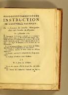 Instruction de l'Assemblée nationale sur la formation des nouvelles municipalité dans toute l'étendue du royaume. : Du 14 décembre 1789