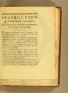 Instruction de l'Assemblée nationale, sur la formation des assemblées représentatives & des corps administratifs. : Du 8 janvier 1790