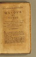 Le Masque de verre : ou Notes historiques, pour servir au procès qui s'instruit dans l'opinion publique, contre Barrere-de-Vieuzac, Billaud-de-Varennes et Collot-d'Herbois