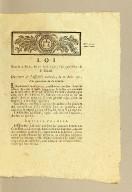 Loi donnée à Paris, le 17 août 1792, l'an quatrième de la liberté