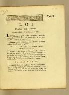 Loi relative aux colonies. : Donnée à Paris le 28 septembre 1791