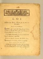 Loi relative aux droits d'entrée sur les denrées coloniales. : Donnée à Paris, le 29 Mars, 1791