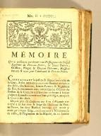 Memoire que présentent par-devant vous nosseigneurs du Conseil supérieur du Port-au-Prince, : les Sieurs Dubois, Orillion, Poupet & Dupont Delorme, huissiers brevetés & recus pour l'Amirauté du Port-au-Prince