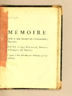 Mémoire pour le Sieur Guesdon de la Poupardière, négociant; contre les Sieurs Daubagna, Trigant & Compagnie, aussi négocians; et contre le Sieur Dupré, tous demeurans au Port-au-Prince.