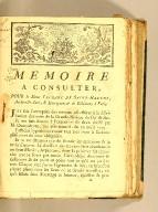 Mémoire a consulter, pour le Sieur Lefranc de Saint-Haulde, architecte-juré, & entrepreneur de Bâtimens à Paris.
