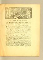A Monsieur le lieutenant-goenéral de l'Amirauté de Guienne