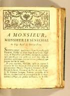 A Monsieur, Monsieur le Sénéchal du Siége royal du Port-au-Prince