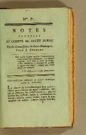 Notes fournies au Comité de salut public par les commissaires de Saint-Domingue, Page & Brulley.