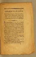 Observations sur le rapport & projet de décret présentés par le citoyen Dornier, relativement aux lettres de change tirées par l'administrateur des finances de la République