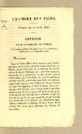 Opinion de M. le Marquis de Coislin, sur l'article additionnel proposé par la Commission, relativement aux dettes des colons