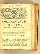 Ordonnance du Roi, portant défense d'inhumer dans les églises. Du trois novembre mil sept cent quatre-vingt-sept. Extrait des registres du Conseil supérieur de Saint-Domingue.