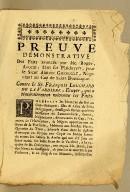 Preuve démonstrative des faits avancés par Me. Roger, avocat, dans ses plaidoyers, pour le Sieur Adrien Gueroult, négociant au Cap de Saint Domingue. Contre le Sr. François Louchard de la Vardiere, ecuyer, qui a témérairement méconnu ces faits.
