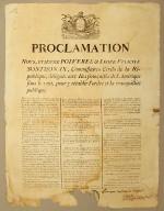 Proclamation nous Étienne Polverel & Léger-Félicité Sonthonax, Commissaires civils de la République, délégués aux iles françaises de l'Amérique sous le vent pour y rétablir l'ordre et la tranquillité publique