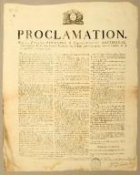 Proclamation. Nous, Étienne Polverel & Léger-Félicité Sonthonax, commissaires civils que nation française voyé dans pays-ci, pour mettre l'ordre et la tranquillité tour par-tout