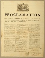 Proclamation nous, Étienne Polverel & Léger-Félicité Sonthonax, commissaires civils de la République, dél��gués aux iles françaises de l'Amérique sous le vent, pour y rétablir l'ordre & la tranquillité publique
