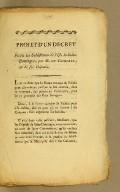 Projet d'un decret pour les subsistances de l'isle de Saint-Domingue, par M. de Cocherel, un de ses députés.