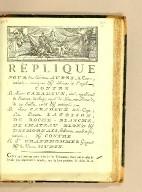 Réplique pour les héritiers Aubry, de cours, intimés anticipans & adhérans à l'appel. Contre le Sieur Caradeux, ainé, appellant de sentence du siége royal du Port-au-Prince, du 29 juillet 1786 & anticipé; le Sieur Caradeux de la Caye; les Dames Latoison, de Roche-Blanche, de Chateau-Blond & des Mornais, habitans au cul-de-sac, intimés; & contre le Sr Grandhomme de Gizeux & la veuve Hudin.