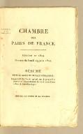 Résumé de M. le Marquis de Lally-Tolendal, rapporteur du Comité spécial, sur la proposition relative au renouvellement du sursis accordé aux colons de Saint-Domingue. Imprimé par ordre de la Chambre