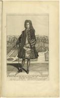 Mre. Jean Law Con[seill]er du roy en tous ces con[se]ils controluer gnal des finance en 1720