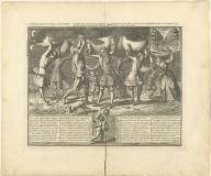 Actieuse papiere Atlas naar de mode met zyn na-sleep … L'Atlas actieux de Papier à la Mode, avec ses complices et le Jeu de Quille du petit Tems ...