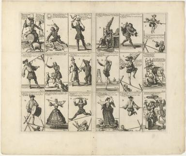 Toverkaart of Genees middle der Wind-breuken vant Zuid west en de Uitvaart van Cartouche,