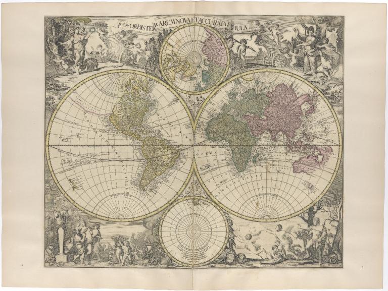 Orbis Terrarum Nova et Accurata Tabula. Auct G. et L. Valk