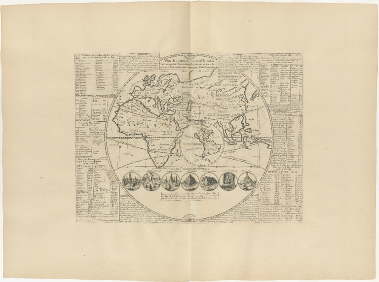 Plan de l'Histoire universelle òul'on voit les quartre Monarchies du Monde, et tous les Anciens Etats aussi bien que ceux qui subsistent aujourdhuy