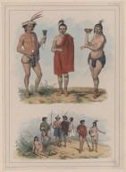 70. Caraibe tatouée. 71. Indiens ou Caraibes. 72. Les même avec leurs vêtements.