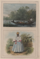 96. Un canot de nègre-marron. 97. Une femme en grand costume.