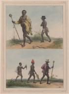 98. Un vieillard et son esclave. [99.] Un chef en voyage.