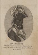 Louverture Capitan de Guardias de Biasou y despues General en Gefe de la Ysla de S[an]to Domino. fue arrestado y lleva do á francia