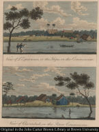 [top] View of L'Esperance, or the Hope, on the Commewine. [bottom] View of Clarenbeek, on the River Commewine.