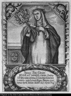 Sponsa Jesu Christi Rosa a Sa. Maria e tertio Ordine S.P. Dominici, strenua S. Catarinae Senensis imitatrix. nata Limae in Regno Peruano, 1586. mense Aprili, denata ibidem 1617. mense Augo.